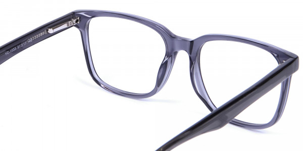 Transparent Grey Glasses - 4