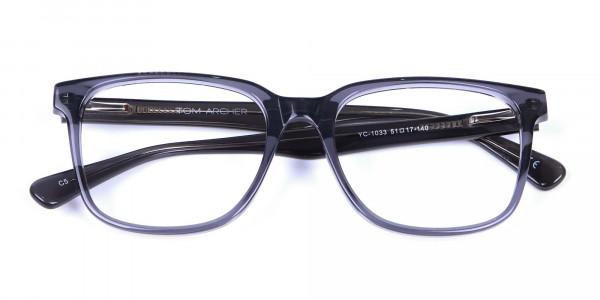 Transparent Grey Glasses - 5