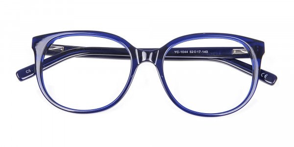 Clever Look with Navy Blue Frame - 5