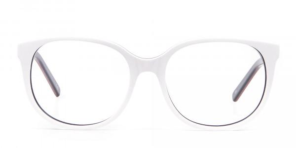White Glasses in Wayfarer-Cateye Style