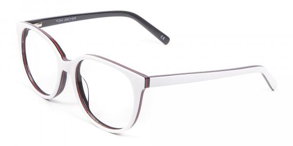 White Glasses in Wayfarer-Cateye Style - 2
