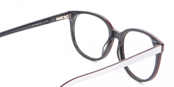 White Glasses in Wayfarer-Cateye Style - 4