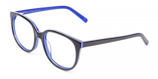 Black and Royal Blue Cat Eye Frame - 2