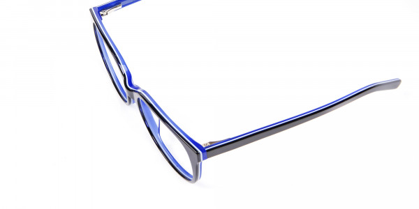 Black and Royal Blue Cat Eye Frame - 5