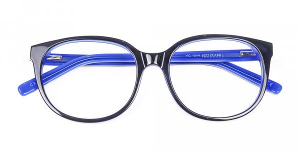 Black and Royal Blue Cat Eye Frame - 6
