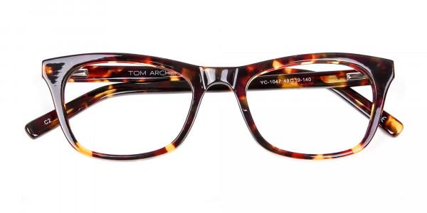 Warm-toned Tortoiseshell Glasses in Cat Eye Style - 5