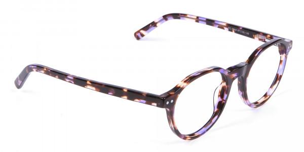 Violet Havana Tortoiseshell Stylish Glasses - 1