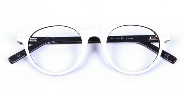 Unique Black & White Cat Eye - 6