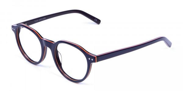 Black & Hints of Orange Eyeglasses - 2