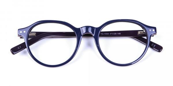 Black & Hints of Orange Eyeglasses - 6
