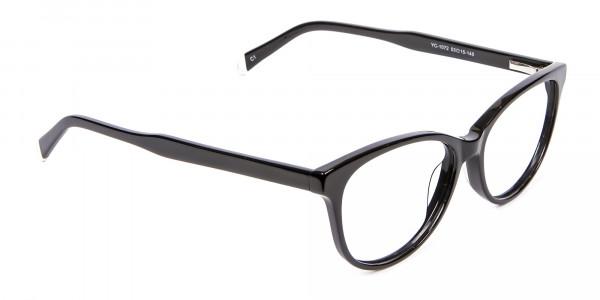 Black Cat Eye Glasses - 1