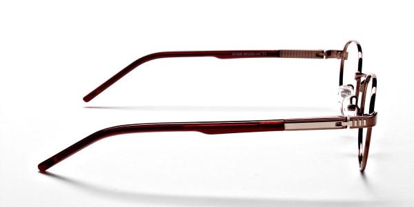 Round Glasses in Brown, Eyeglasses -4