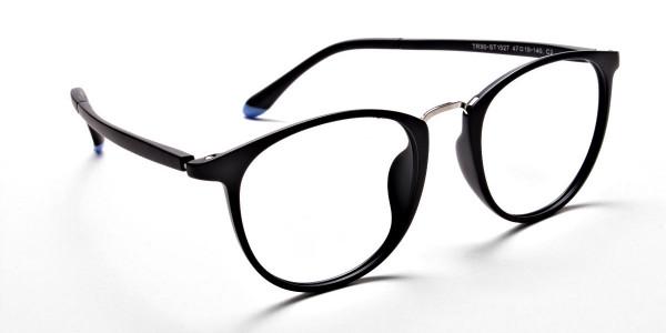 Black Matte Funky Glasses -1