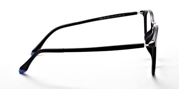 Black Matte Funky Glasses -3