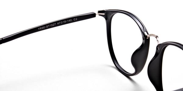 Black Matte Funky Glasses -4
