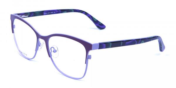Violet & Aurora Green Dual Tone Glasses -2