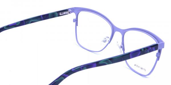Violet & Aurora Green Dual Tone Glasses -4
