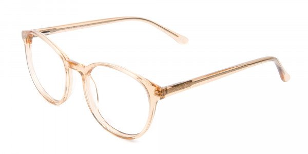 Round Crystal Amber Glasses Online for Men and Women UK - 3