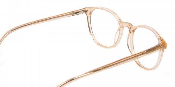 Round Crystal Amber Glasses Online for Men and Women UK - 5
