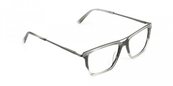Gunmetal & Marble Grey Double Bridge Glasses - 2