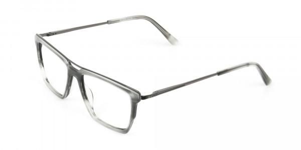 Gunmetal & Marble Grey Double Bridge Glasses - 3