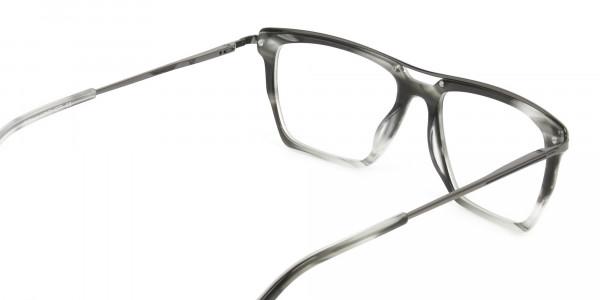 Gunmetal & Marble Grey Double Bridge Glasses -5
