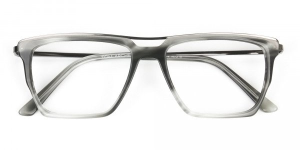 Gunmetal & Marble Grey Double Bridge Glasses - 6