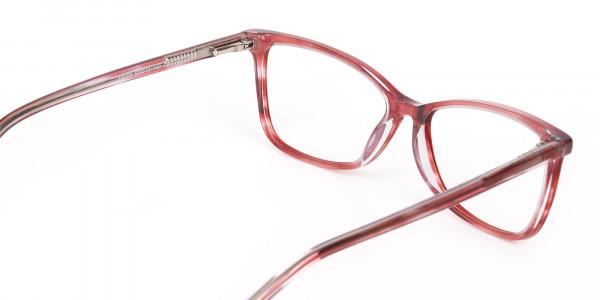 Translucent Rose Red Cat Eye Glasses Women-5