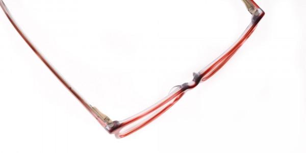 Translucent Rose Red Cat Eye Glasses Women-6