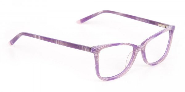 Purple Cat Eye Glasses with Lavender Stripes-2