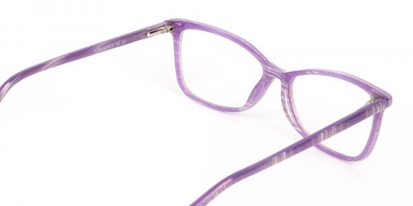 Purple Cat Eye Glasses with Lavender Stripes-5