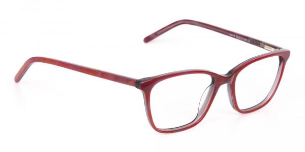 Rose Red Rectangular Acetate Eyeglasses Women-2