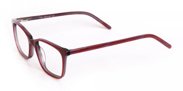 Rose Red Rectangular Acetate Eyeglasses Women-3
