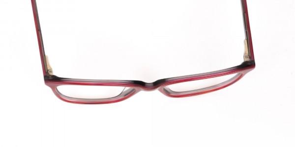Rose Red Rectangular Acetate Eyeglasses Women-6