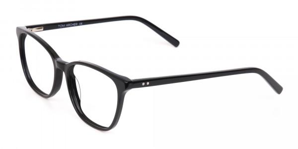 Black Wayfarer Acetate Eyeglasses Unisex-3