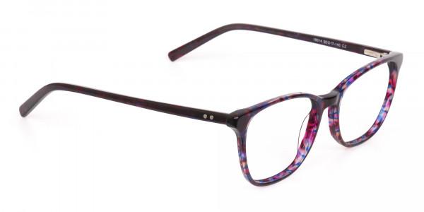 Purple Tortoise Wayfarer Acetate Eyeglasses-2