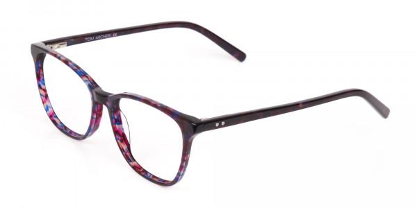 Purple Tortoise Wayfarer Acetate Eyeglasses-3