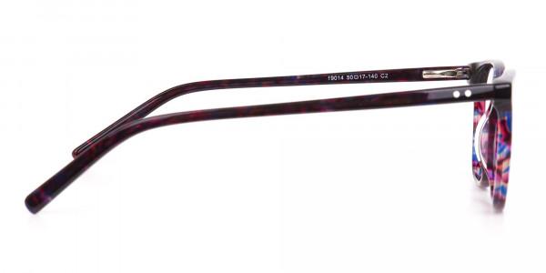 Purple Tortoise Wayfarer Acetate Eyeglasses-4