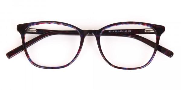 Purple Tortoise Wayfarer Acetate Eyeglasses-7
