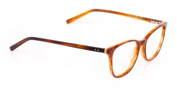 Caramel Brown Wayfarer Acetate Eyeglasses-2