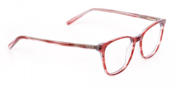 Translucent Rose Red Wayfarer Acetate Glasses-2