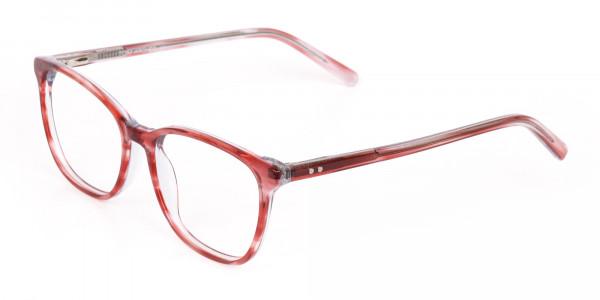Translucent Rose Red Wayfarer Acetate Glasses-3
