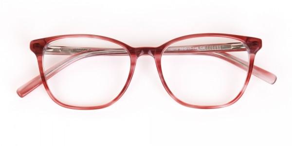 Translucent Rose Red Wayfarer Acetate Glasses-7