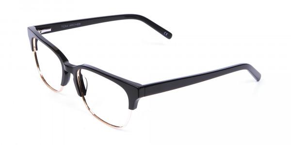 Black & Gold Browline Frames - 2