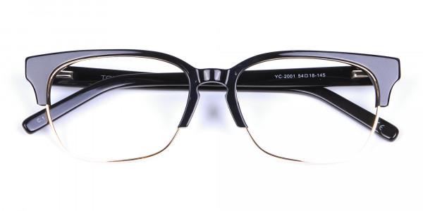 Black & Gold Browline Frames - 5
