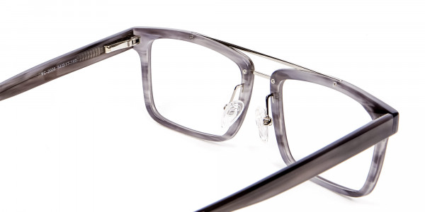 Smudge Lined Grey Glasses - 4