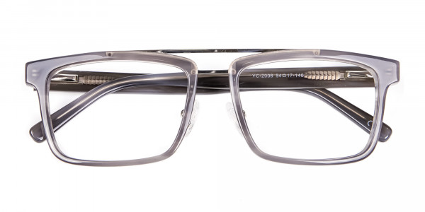 Smudge Lined Grey Glasses - 5