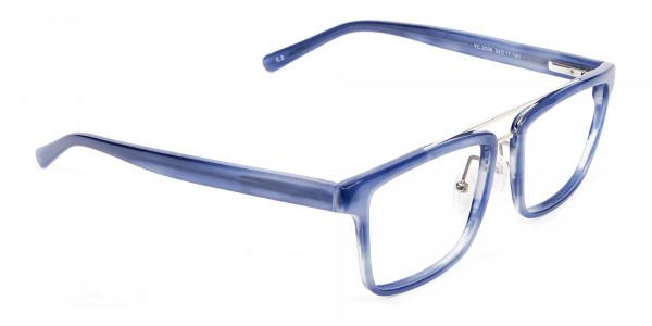 Icy Blue Rectangular Frames - 1