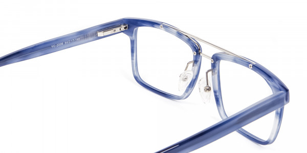 Icy Blue Rectangular Frames - 4