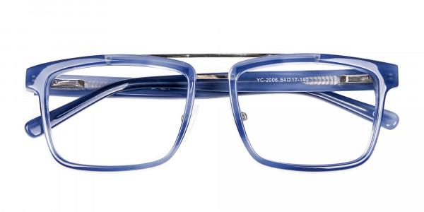 Icy Blue Rectangular Frames - 5